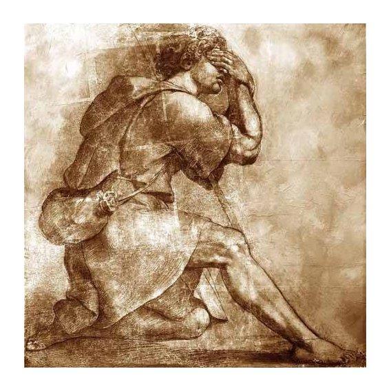 imagens de mapas, gravuras e aquarelas - Quadro -Moses-