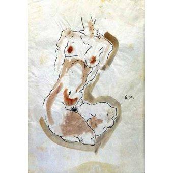 - Quadro -Desnudo Femenino - - Schiele, Egon