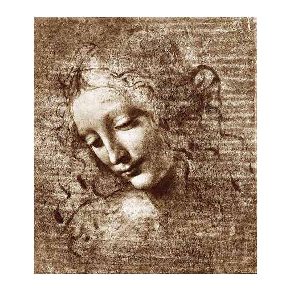 imagens de mapas, gravuras e aquarelas - Quadro -Cabeza de dama-