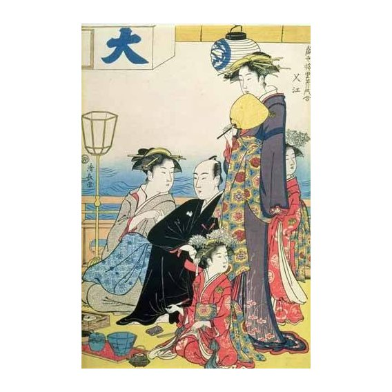 ethnic and oriental paintings - Picture -Women of the Gay Quarters (right hand panel of diptych)-
