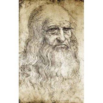 imagens de mapas, gravuras e aquarelas - Quadro -Autorretrato de Leonardo da Vinci- - Vinci, Leonardo da