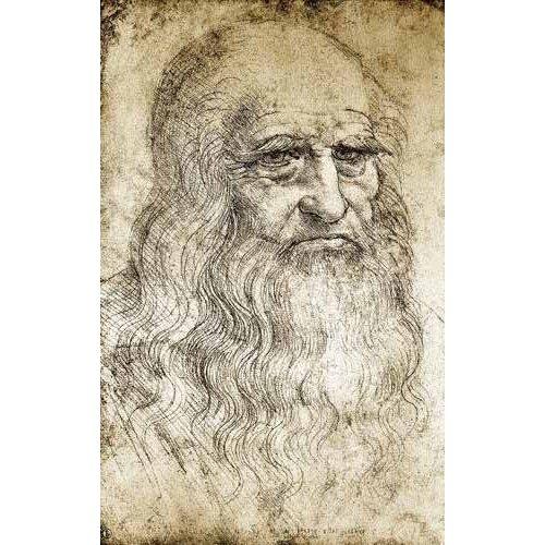 imagens de mapas, gravuras e aquarelas - Quadro -Autorretrato de Leonardo da Vinci-