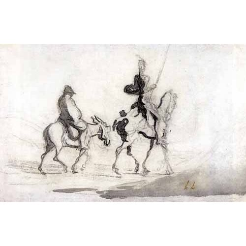 Quadro -Don Quixote and Sancho Panza, 1850-