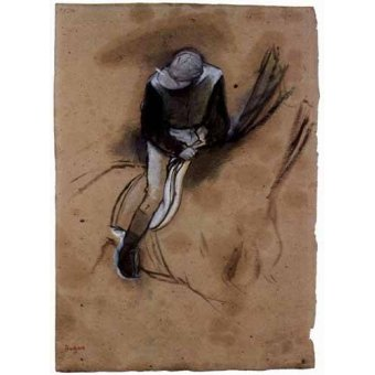 imagens de mapas, gravuras e aquarelas - Quadro -El jockey- - Degas, Edgar