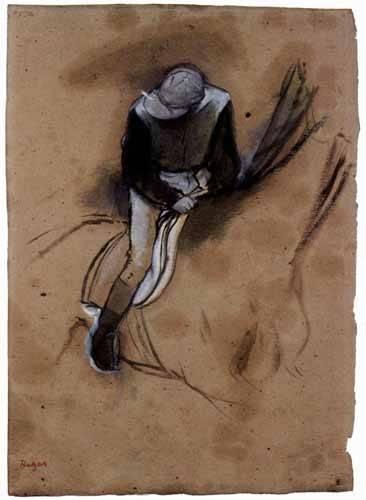 cuadros de mapas, grabados y acuarelas - Cuadro -El jockey- - Degas, Edgar