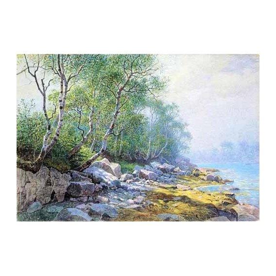imagens de mapas, gravuras e aquarelas - Quadro -Seal Harbor Mount Desert Maine-