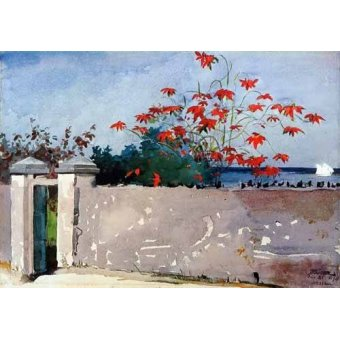 imagens de mapas, gravuras e aquarelas - Quadro -Un Muro, Nassau- - Homer, Winslow