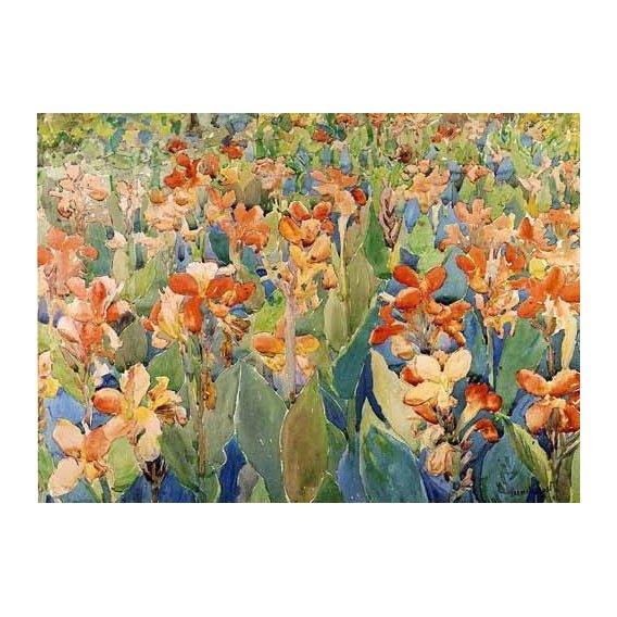 imagens de mapas, gravuras e aquarelas - Quadro -Cama de flores-