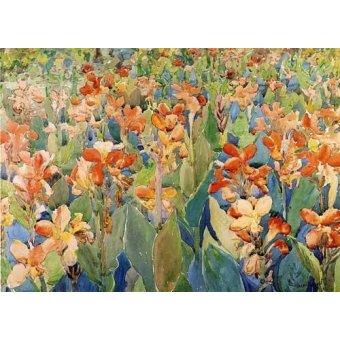 imagens de mapas, gravuras e aquarelas - Quadro -Cama de flores- - Prendergast, Maurice