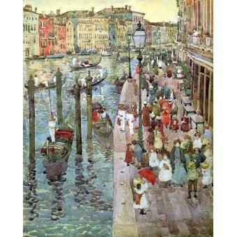 imagens de mapas, gravuras e aquarelas - Quadro -Gran Canal de Venecia, 2- - Prendergast, Maurice