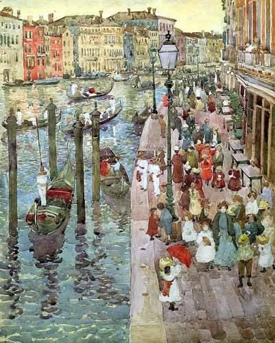 imagens-de-mapas-gravuras-e-aquarelas - Quadro -Gran Canal de Venecia, 2- - Prendergast, Maurice