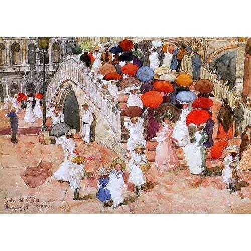 imagens de mapas, gravuras e aquarelas - Quadro -Ponte della Paglia-