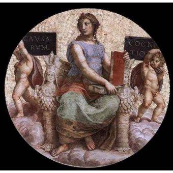 imagens de mapas, gravuras e aquarelas - Quadro -Stanza della Segnatura - Philosophy- - Rafael, Sanzio da Urbino Raffael
