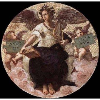 imagens de mapas, gravuras e aquarelas - Quadro -Stanza della Segnatura - Poetry- - Rafael, Sanzio da Urbino Raffael