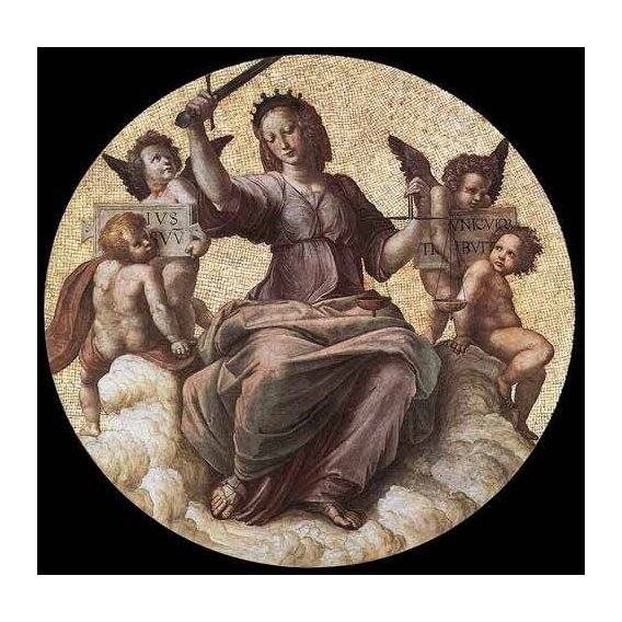 imagens de mapas, gravuras e aquarelas - Quadro -Stanza della Segnatura - Justice-