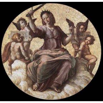 imagens de mapas, gravuras e aquarelas - Quadro -Stanza della Segnatura - Justice- - Rafael, Sanzio da Urbino Raffael