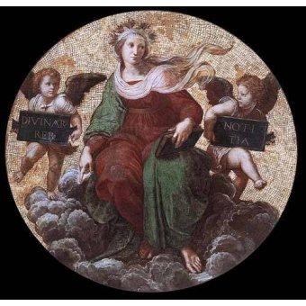 imagens de mapas, gravuras e aquarelas - Quadro -Stanza della Segnatura - Theology- - Rafael, Sanzio da Urbino Raffael