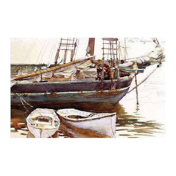 imagens de mapas, gravuras e aquarelas - Quadro -Barco-