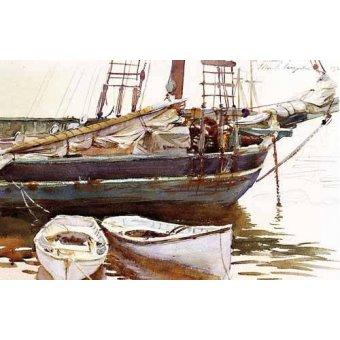 imagens de mapas, gravuras e aquarelas - Quadro -Barco- - Sargent, John Singer