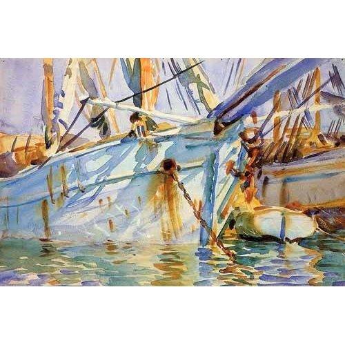 Quadro -En un puerto Levantino-