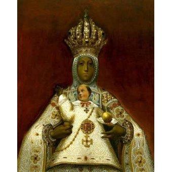 cuadros religiosos - Cuadro -La Virgen del Sagrario- - _Anónimo Toledano