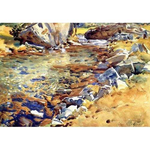 Cuadro -Brook among Rocks-