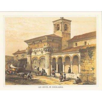 imagens de mapas, gravuras e aquarelas - Quadro -San Miguel de Guadalajara- - Villaamil, Jenaro Perez de