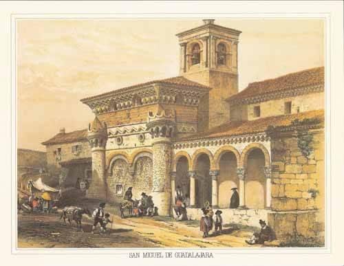 imagens-de-mapas-gravuras-e-aquarelas - Quadro -San Miguel de Guadalajara- - Villaamil, Jenaro Perez de