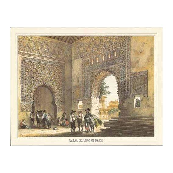 imagens de mapas, gravuras e aquarelas - Quadro -Taller del moro en Toledo-