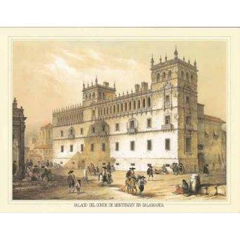 imagens de mapas, gravuras e aquarelas - Quadro -Palacio del Conde de Monterrey en Salamanca- - Villaamil, Jenaro Perez de
