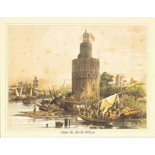 Quadro -Torre del Oro en Sevilla-