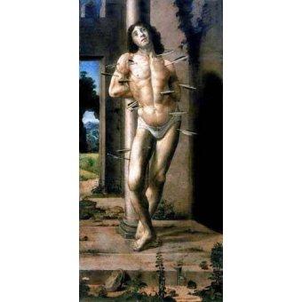 quadros religiosos - Quadro -San Sebastian- - Berruguete, Pedro