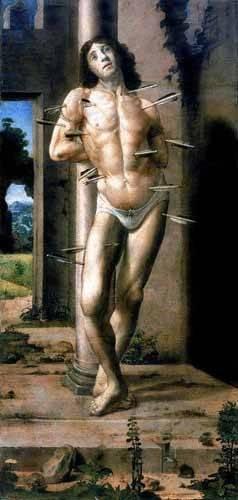 cuadros religiosos - Cuadro -San Sebastian- - Berruguete, Pedro