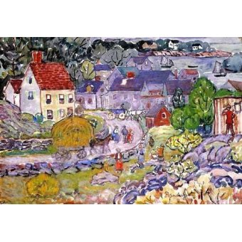 quadros infantis - Quadro -The Hay Cart- - Prendergast, Maurice
