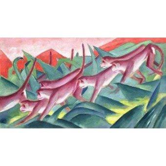 quadros infantis - Quadro -Monkey Frieze- - Marc, Franz