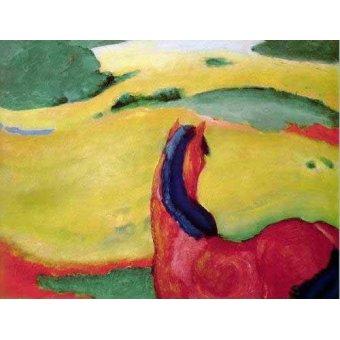 cuadros infantiles - Cuadro -Caballo en un paisaje- - Marc, Franz