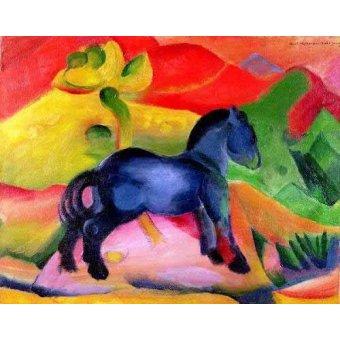cuadros de fauna - Cuadro -Caballito Azul- - Marc, Franz