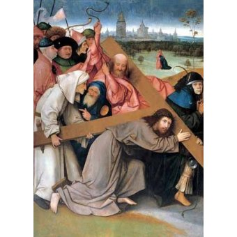 cuadros religiosos - Cuadro -Cristo portando la cruz- - Bosco, El (Hieronymus Bosch)
