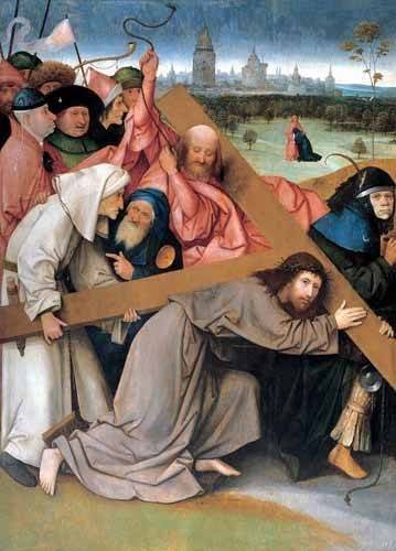 religious paintings - Picture -Cristo portando la cruz- - Bosco, El (Hieronymus Bosch)