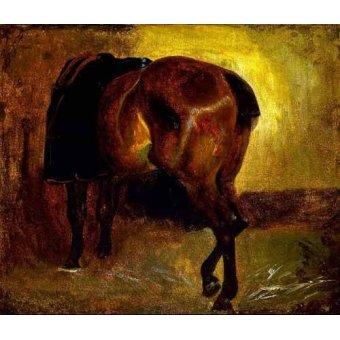 cuadros de fauna - Cuadro -Estudio de un caballo- - Gericault, Theodore