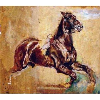 animals - Picture -Estudio de caballo- - Meissoner, Jean Louis