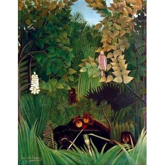 quadros de animais - Quadro -Los alegres comediantes- - Rousseau, Henri