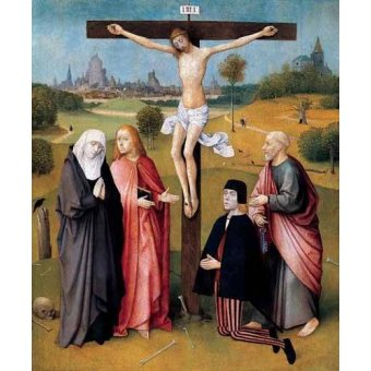religious paintings - Picture -La Crucifixión- - Bosco, El (Hieronymus Bosch)