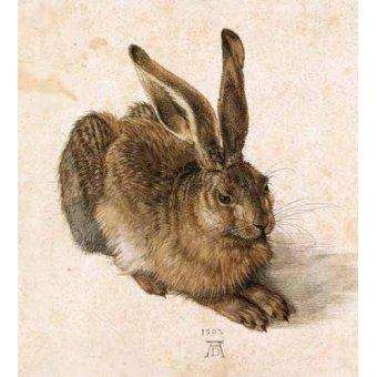 quadros de animais - Quadro -Joven Liebre- - Dürer, Albrecht (Albert Durer)