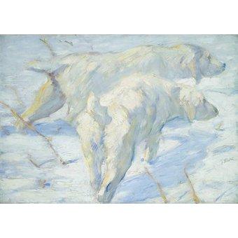 cuadros de fauna - Cuadro -Perros pastores siberianos- - Marc, Franz