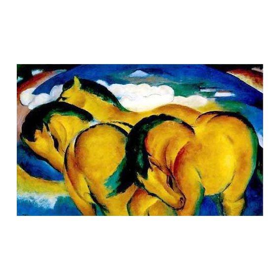 fotos de fauna - Quadro -Caballitos amarillos-
