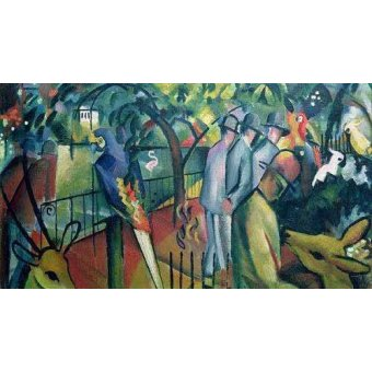 quadros de animais - Quadro -Jardín zoológico 1- - Macke, August