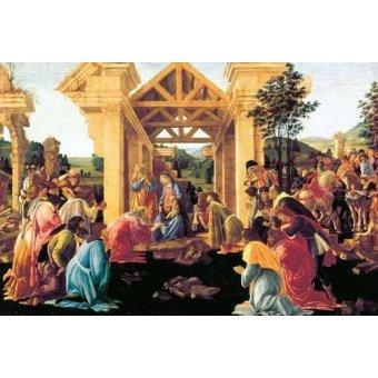 quadros religiosos - Quadro -Adoración de los Reyes Magos- - Botticelli, Alessandro