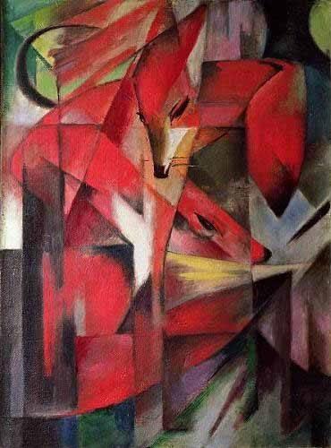 quadros-de-animais - Quadro -Los Zorros- - Marc, Franz