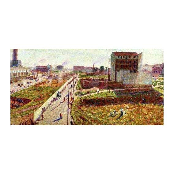 pinturas de paisagens - Quadro -Talleres en Porta Romana-